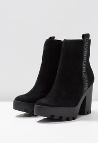 Calvin Klein Jeans - SERINA - Enkellaarsjes met hoge hak - black - 4