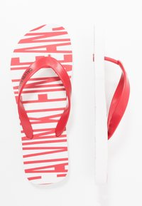 Calvin Klein Jeans - ENRICO - Pool shoes - white/racing red - 1