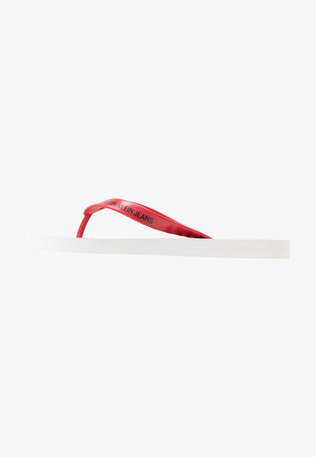 ENRICO - Japonki kąpielowe - white/racing red