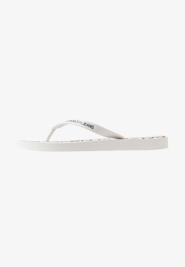 EDMUR - Tongs - white/black