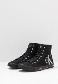 Calvin Klein Jeans - ASTON - Korkeavartiset tennarit - black - 2