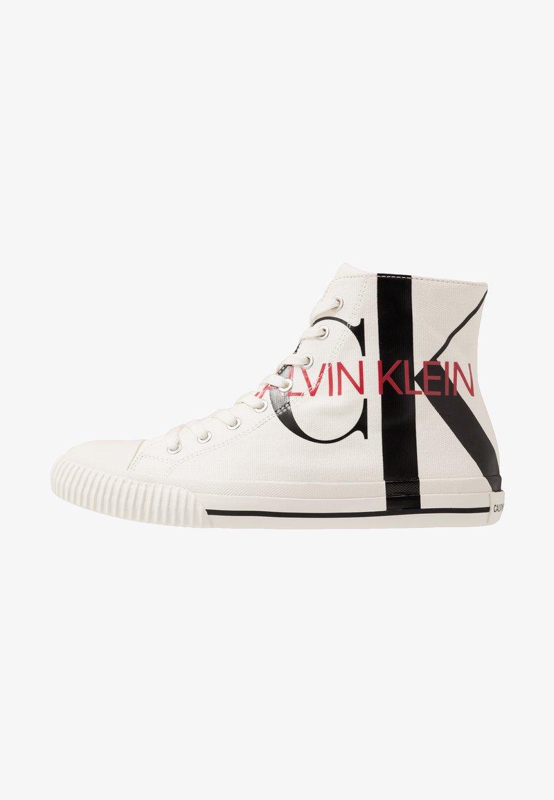Calvin Klein Jeans - IGLIS - Sneakersy wysokie - bright white/black