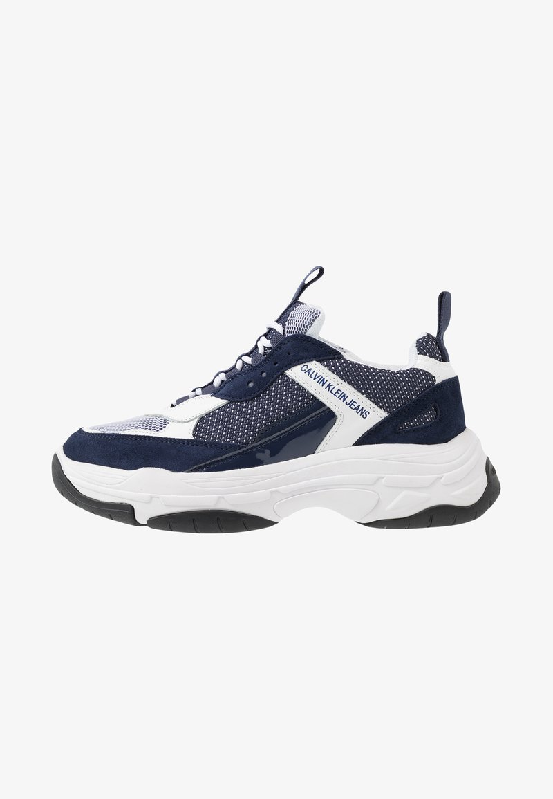 Calvin Klein Jeans - MARVIN - Trainers - white/navy