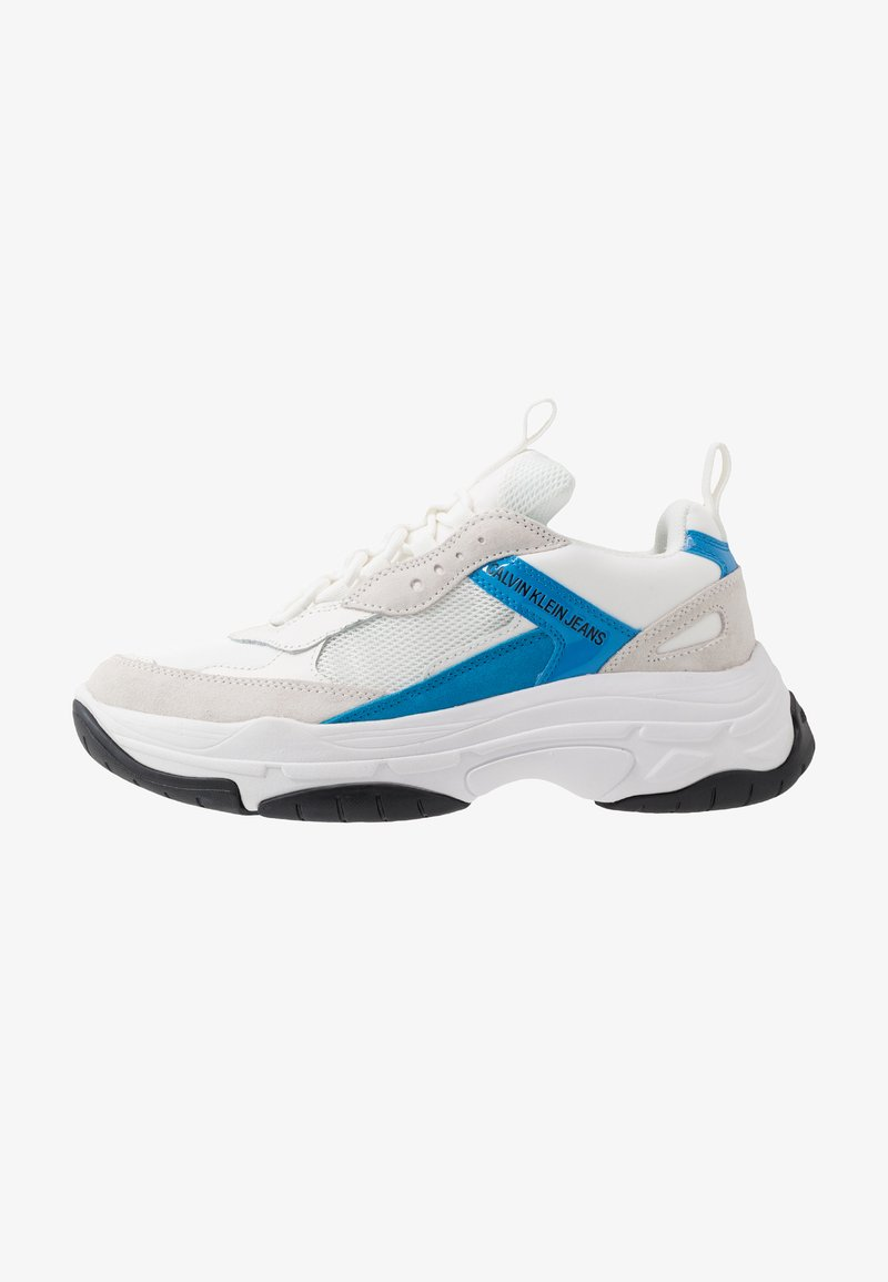 Calvin Klein Jeans - MARVIN - Sneaker low - bright white/blue aster