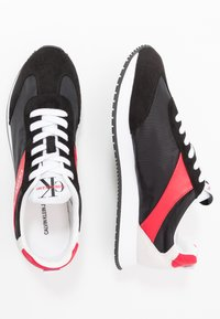 Calvin Klein Jeans - JERROLD - Trainers - black/racing red - 1