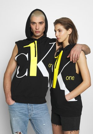 CK ONE BIG LOGO REGULAR SLEEVELESS HD - Sweatshirt - black beauty