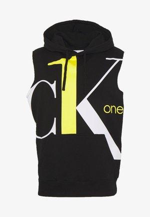 CK ONE BIG LOGO REGULAR SLEEVELESS HD - Sweatshirt - black beauty