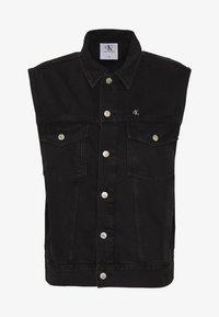 Calvin Klein Jeans - CK ONE OVERSIZED DENIM VEST - Weste - black stone - 5