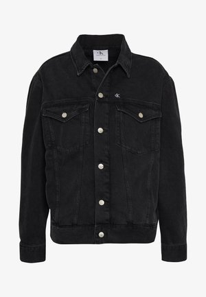 CK ONE OVERSIZED FOUNDATION DENIM JKT - Denim jacket - black stone