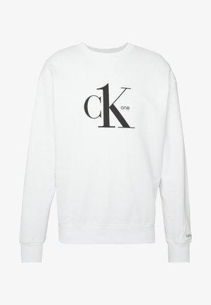 CK ONE LOGO REGULAR CREWNECK HWK - Sweatshirt - bright white