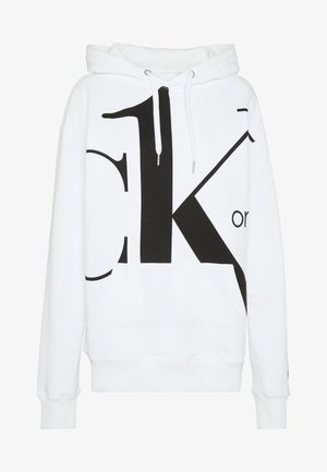 CK ONE BIG LOGO REGULAR HOODIE - Mikina s kapucí - bright white