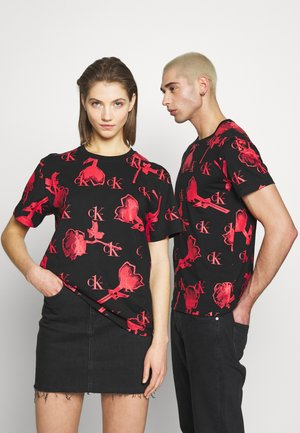 CK ONE ROSE REGULAR TEE - T-shirts print - roses fury
