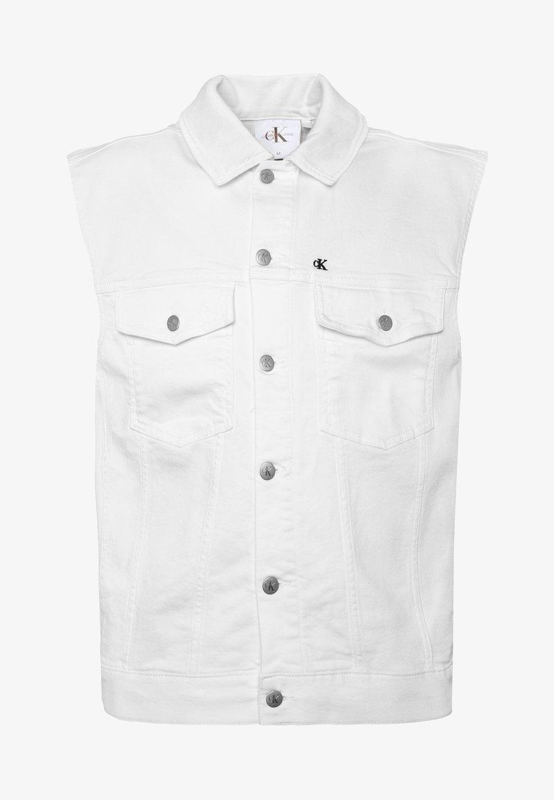 Calvin Klein Jeans - DENIM VEST UNISEX PRIDE - Waistcoat - white