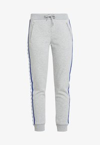 Calvin Klein Jeans - MONOGRAM TAPE PANTS - Tracksuit bottoms - light grey heather - 3
