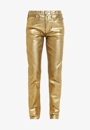 HIGH RISE SLIM - Džíny Slim Fit - metallic gold
