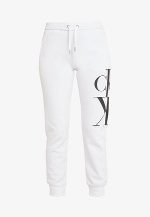 MIRRORED MONOGRAM PANT - Spodnie treningowe - bright white