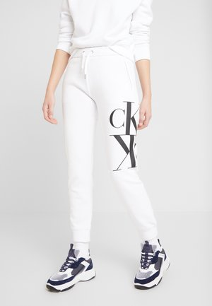 MIRRORED MONOGRAM PANT - Tracksuit bottoms - bright white