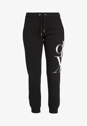MIRRORED MONOGRAM PANT - Pantalones deportivos - black
