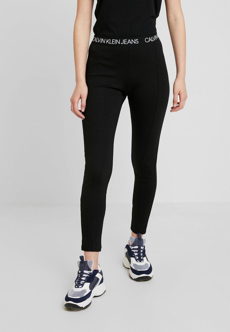 Calvin Klein Jeans - LOGO MILANO - Leggings - black