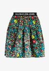 FLORAL LOGO TAPE SKIRT - A-line skirt - multi coloured