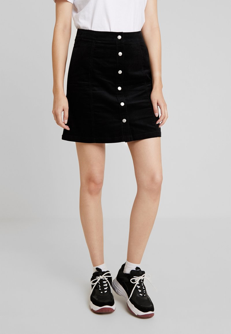 Calvin Klein Jeans - BUTTON DOWN SKIRT - A-line skjørt - black