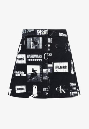 PUNK SKIRT - Jeansrok - black