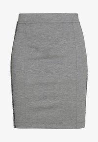 Calvin Klein Jeans - MILANO LOGO SKIRT - Pouzdrová sukně - mid grey heather - 3