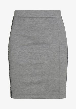 MILANO LOGO SKIRT - Spódnica ołówkowa  - mid grey heather