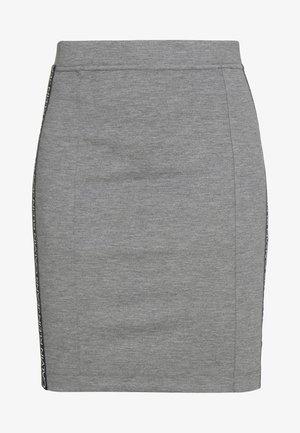 MILANO LOGO SKIRT - Pouzdrová sukně - mid grey heather