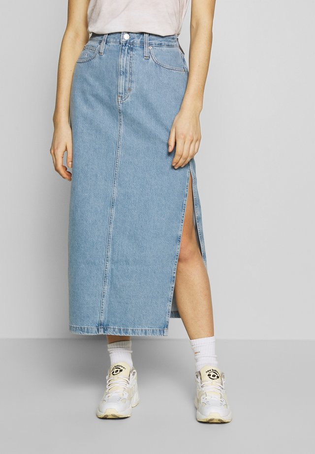 SKIRT - Jeansrok - light blue