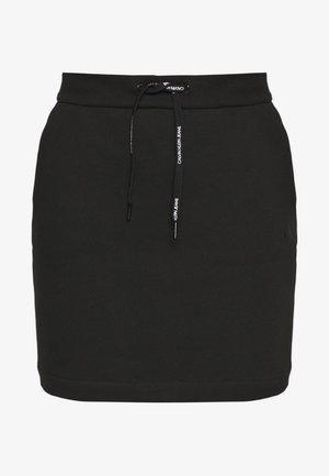 BRANDED DRAWCORD SKIRT - Minirok - black