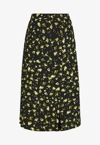 Calvin Klein Jeans - FLORAL MIDI SKIRT - Blyantskjørt - black grungy / halftone yellow floral - 3