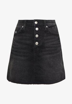MID RISE MINI SKIRT - Jupe en jean - black shank
