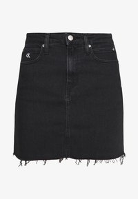 Calvin Klein Jeans - CK ONE HIGH RISE MINI SKIRT - Farkkuhame - black stone - 4