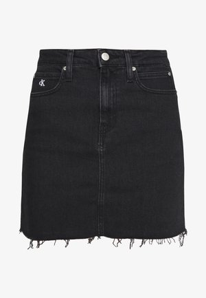 CK ONE HIGH RISE MINI SKIRT - Denim skirt - black stone