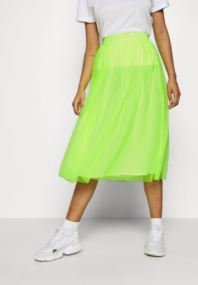 DOUBLE LAYER SKIRT - Jupe trapèze - safety yellow