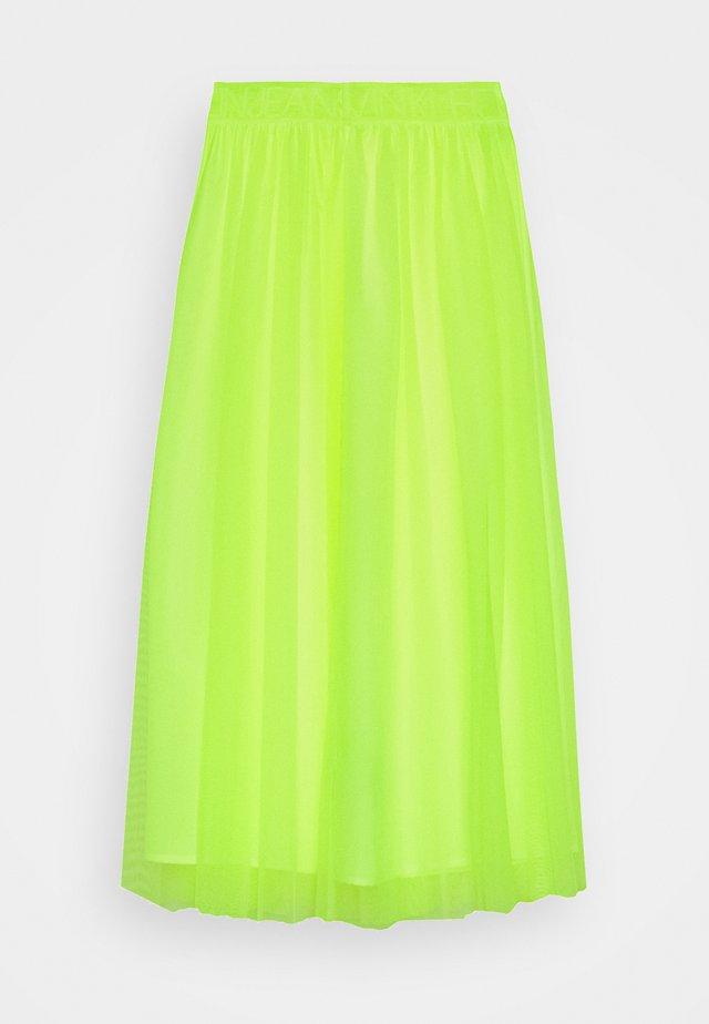 DOUBLE LAYER SKIRT - Spódnica trapezowa - safety yellow