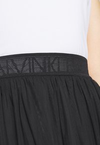Calvin Klein Jeans - DOUBLE LAYER SKIRT - Jupe trapèze - black - 4