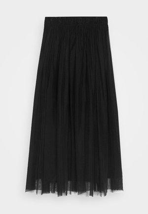 DOUBLE LAYER SKIRT - Áčková sukně - black