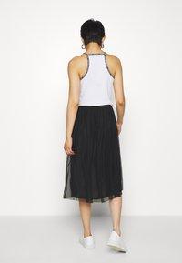 Calvin Klein Jeans - DOUBLE LAYER SKIRT - Jupe trapèze - black - 2