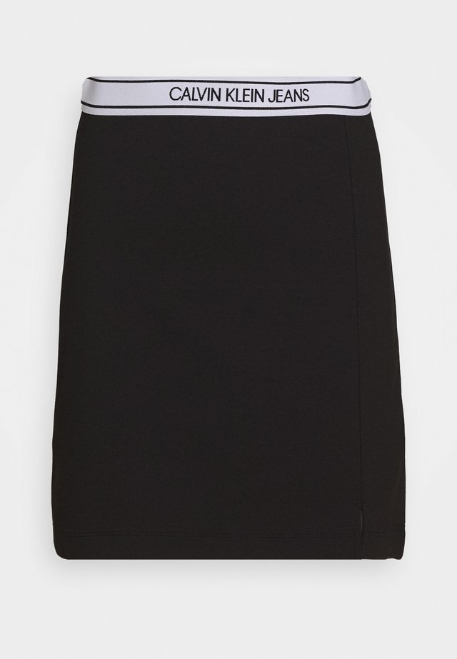 LOGO MILANO MINI SKIRT - Minijupe - black