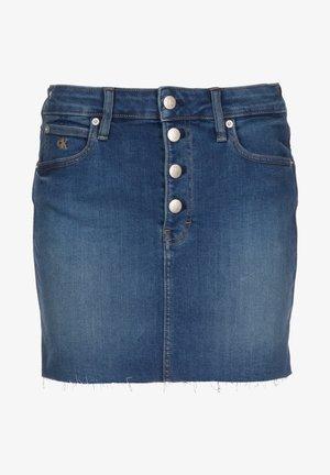 ROCK MID RISE MINI W - Gonna di jeans - mid blue