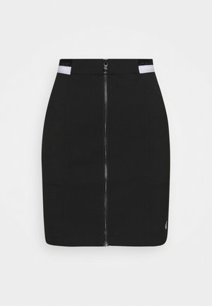 ZIP MONOCHROME MILANO SKIRT - Pencil skirt - black