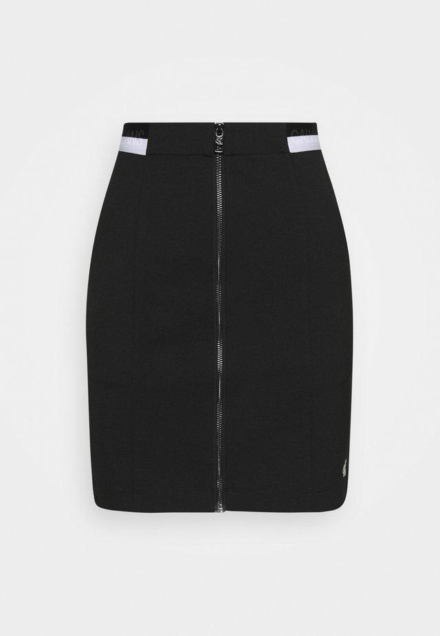 ZIP MONOCHROME MILANO SKIRT - Pouzdrová sukně - black