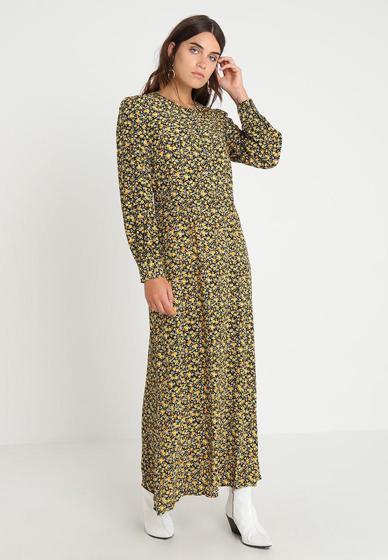 Calvin Klein Jeans - DITSY FLOWER PRINT DRESS - Maxikleid - black/super lemon