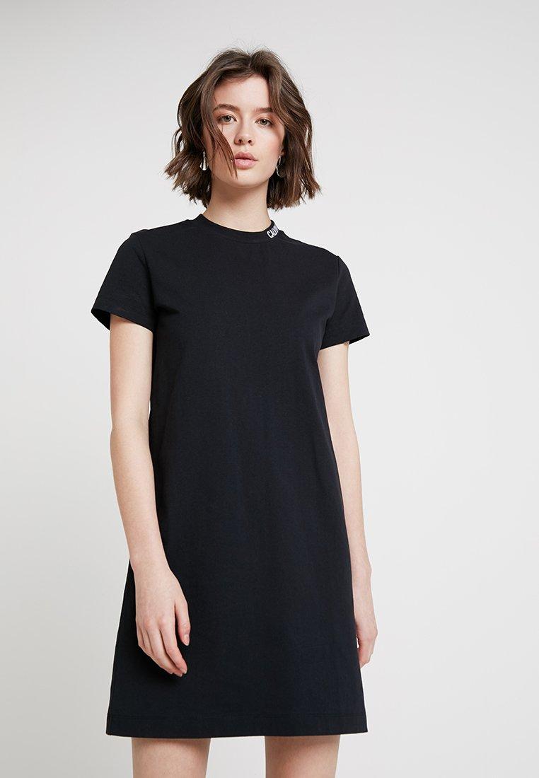 Calvin Klein Jeans - SKATER TEE DRESS - Jersey dress - ck black