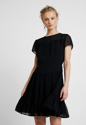 DOUBLE LAYER DRESS - Robe d'été - black