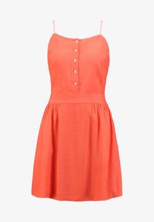 LOGO STRAP SLIP DRESS - Kjole - hot coral
