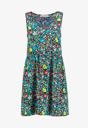 SLEEVELESS FLORAL DRESS - Vestido informal - multi-coloured