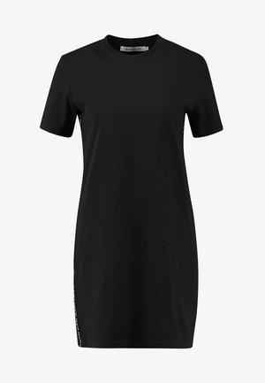 TAPE LOGO DRESS - Žerzejové šaty - black